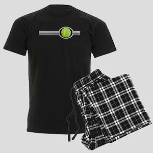 Three Stripes Tennis Ball Men's Dark Pajamas
