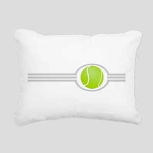 Three Stripes Tennis Ball Rectangular Canvas Pillo
