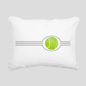 Three Stripes Tennis Ball Rectangular Canvas Pillo