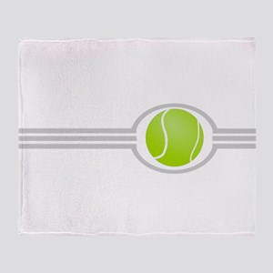 Three Stripes Tennis Ball Throw Blanket