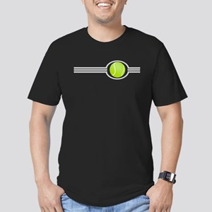 Three Stripes Tennis Ball Men's Fitted T-Shirt (da