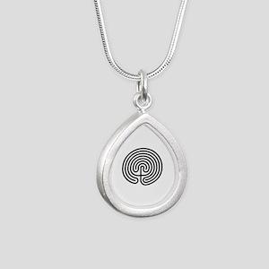 Labyrinth AO Silver Teardrop Necklace