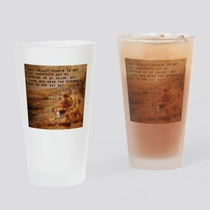 What Really Counts - John F Kennedy Drinking Glass