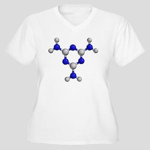 Melamine molecule - Women's Plus Size V-Neck T-Shi