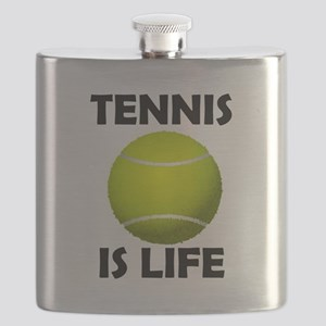 Tennis Is Life Flask