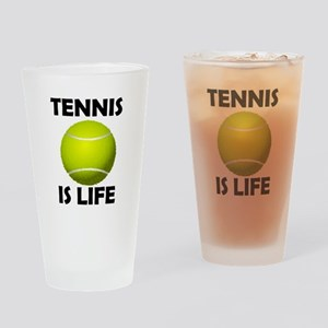 Tennis Is Life Drinking Glass