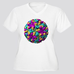 Norwalk virus particle - Women's Plus Size V-Neck