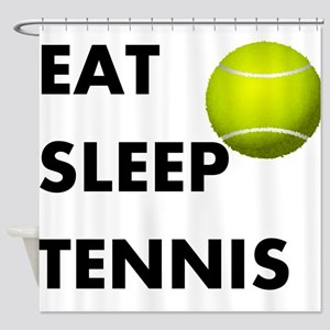 Eat Sleep Tennis Shower Curtain