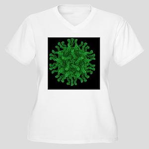 Poliovirus particle - Women's Plus Size V-Neck T-S