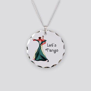 Let's Tango Necklace Circle Charm