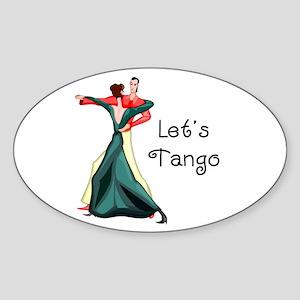 Let's Tango Sticker (Oval)