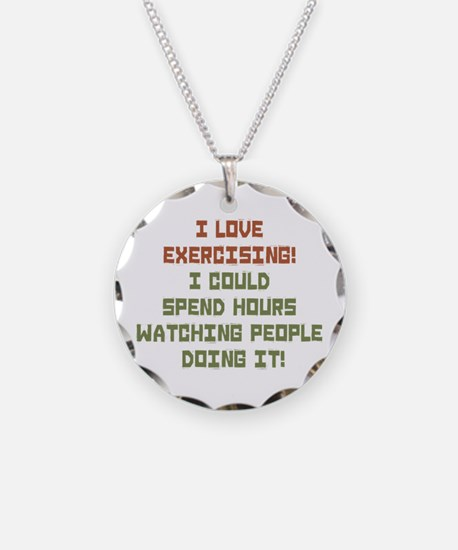 I Love Exercising Necklace