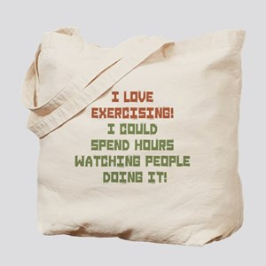 I Love Exercising Tote Bag