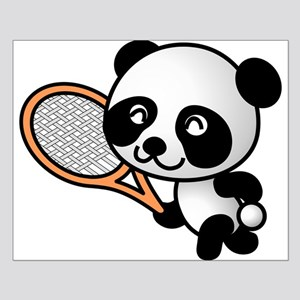 Panda Tennis Player Small Poster