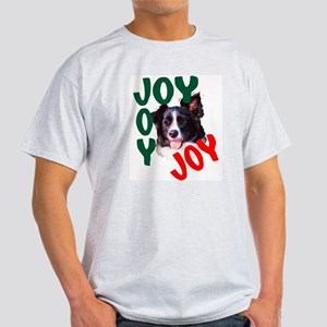 Christmas Border Collie Ash Grey T-Shirt