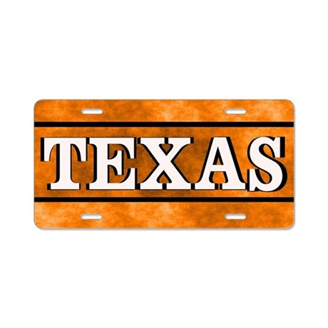 Texas Orange License Plate Aluminum License Plate