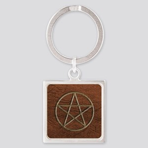 Pentacle Square Keychain