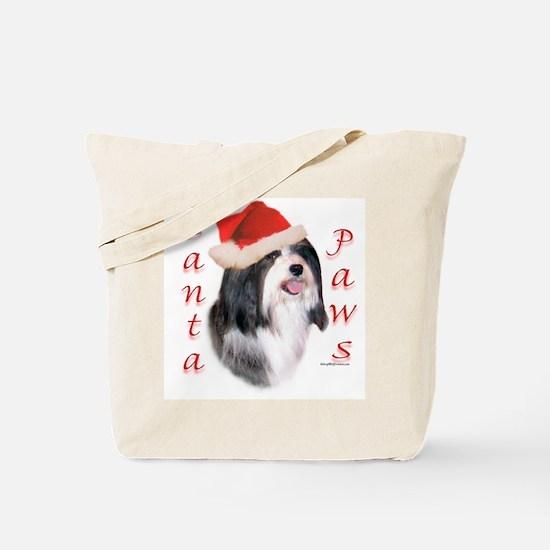 Santa Paws Havanese Tote Bag