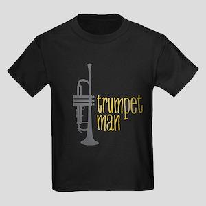 Trumpet Man Kids Dark T-Shirt