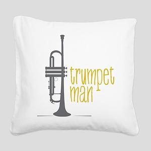 Trumpet Man Square Canvas Pillow
