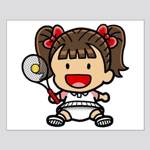 Baby Girl Tennis Player Small Poster