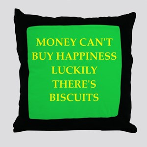 BISCUITS Throw Pillow
