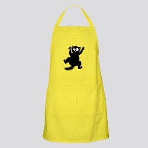 Funny Cat Cool Cartoon Cute Space Cat Light Apron