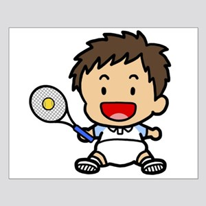 Baby Boy Tennis Player Small Poster