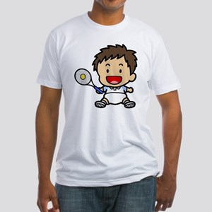 Baby Boy Tennis Player Fitted T-Shirt