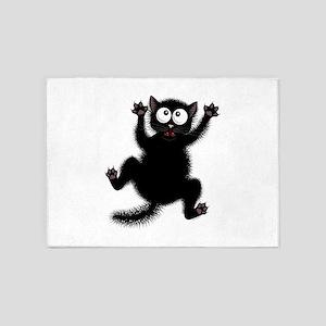Funny Cat Cool Cartoon Cute Space C 5'x7'Area Rug