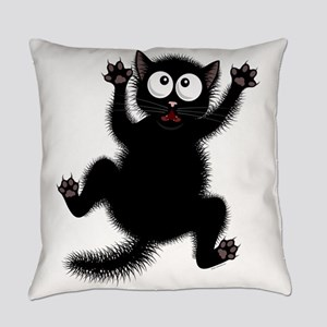 Funny Cat Cool Cartoon Cute Space Everyday Pillow