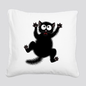 Funny Cat Cool Cartoon Cute S Square Canvas Pillow
