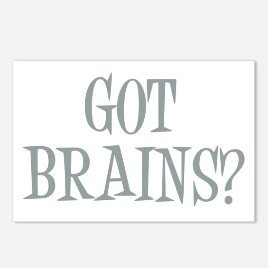 Got Brains? Postcards (Package of 8)