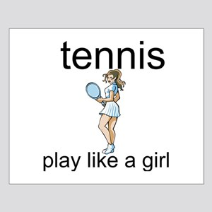 Tennis Play Like A Girl Small Poster