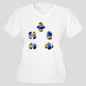 5d electron orbitals - Women's Plus Size V-Neck T-
