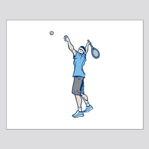 Tennis Serve Small Poster