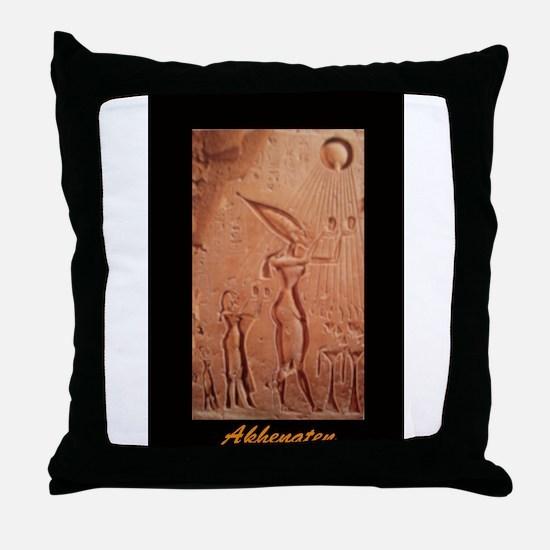 Funny Akhenaten Throw Pillow