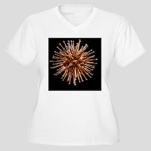 Virus, artwork - Women's Plus Size V-Neck T-Shirt