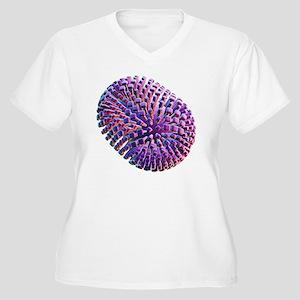 Flu virus, artwork - Women's Plus Size V-Neck T-Sh