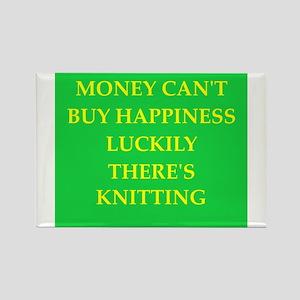 knitting Rectangle Magnet