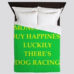 dog racing Queen Duvet