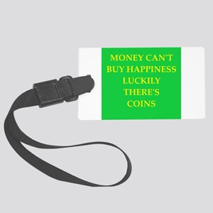 coin collector Large Luggage Tag