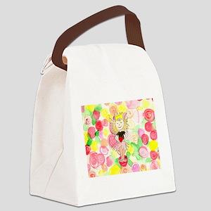 Flower Heart Princess Canvas Lunch Bag