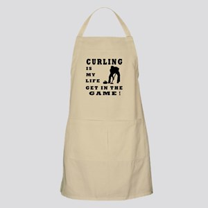 Curling Is My Life Apron