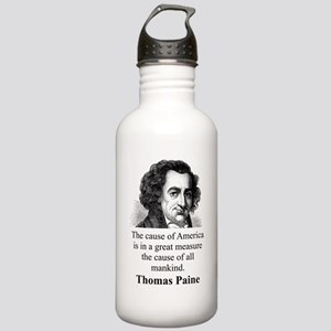The Cause Of America - Thomas Paine Water Bottle