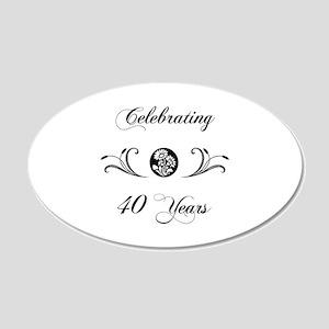 40th Anniversary (b&w) 20x12 Oval Wall Decal