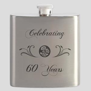 60th Anniversary (b&w) Flask