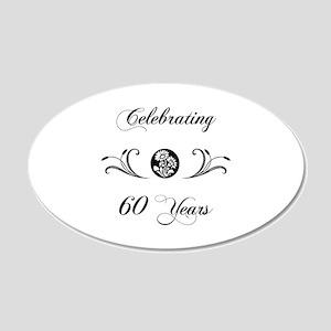 60th Anniversary (b&w) 20x12 Oval Wall Decal