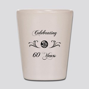 60th Anniversary (b&w) Shot Glass