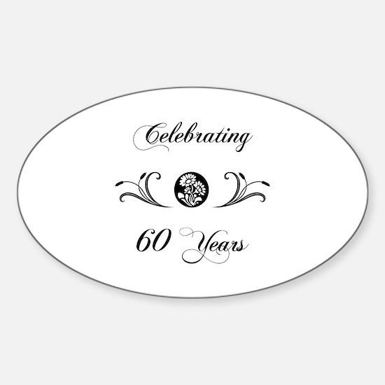 60th Anniversary (b&w) Sticker (Oval)